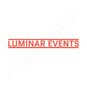 Event Logo Luminar Events - Logo Design Example Event
