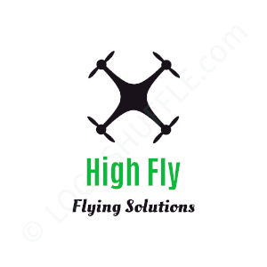 Startup Logo High Fly Flying Solutions - Logo Design Example Startups