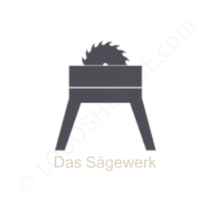 Carpenter Logo Das Sägewerk - Logo Design Example Carpenter