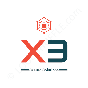 Security Logo X3 Secure Solutions - Logo Design Example Security