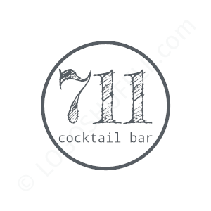 Bar Logo Cocktail Bar - Logo Design Beispiel für Bars