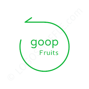 Startup Logo Goop Fruits - Logo Design Example Startups