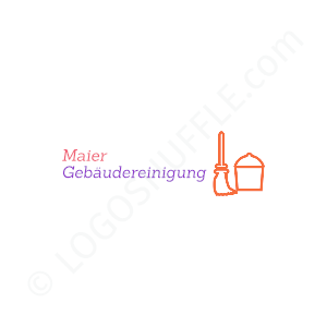 Cleaning Firm Logo Maier building cleaning - Logo Design Example Cleaning