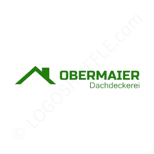 Roofing Logo Obermaier - Logo Design Example Roofer