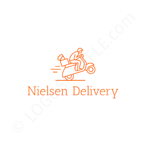 Freelancer Logo Nielsen Delivery - Logo Design Beispiel für Freelancer
