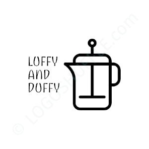 Cafe & Coffeeshop Logo Loffy and Duffy - Logo Design Beispiel für Cafes & Coffeeshops