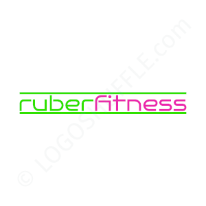 Fitness Logo Ruber Fit - Logo Design Example Fitness