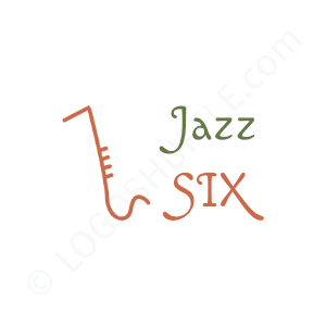 Band Logo Jazz Six - Logo Design Example Band