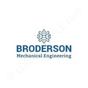 Engineering Logo Broderson Mechanical Engineering - Logo Design Example Engineer