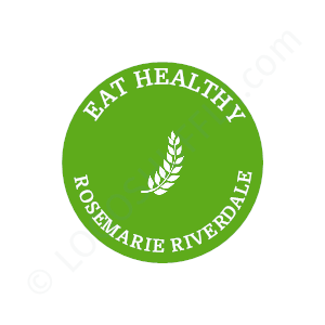 Blogger Logo Eat Healthy Rosemarie Riverdale - Logo Design Example Blogger