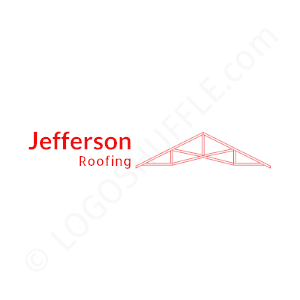 Roofing Logo Jefferson Roofing - Logo Design Example Roofer