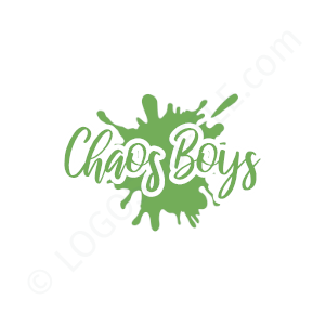 Band Logo Chaos Boys - Logo Design Example Band