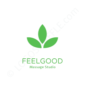 Massage Logo Studio Feelgood - Logo Design Beispiel für Masseure