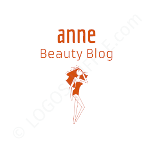 Blogger Logo Anne Beauty Blog - Logo Design Example Blogger