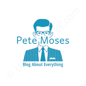 Blogger Logo Pete Moses Blog About Everything - Logo Design Example Blogger