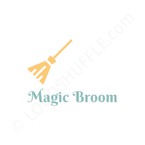 Cleaning Firm Logo Magic Broom - Logo Design Example Cleaning