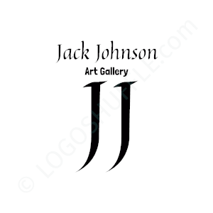 Artist Logo Jack Johnson Art Gallery - Logo Design Example Artist