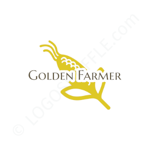 Farm Logo Golden Farmer - Logo Design Example Farmer