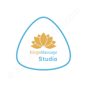 Massage Logo Studio King - Logo Design Beispiel für Masseure