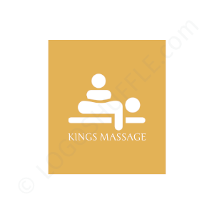 Massage Logo Kings Massage - Logo Design Beispiel für Masseure